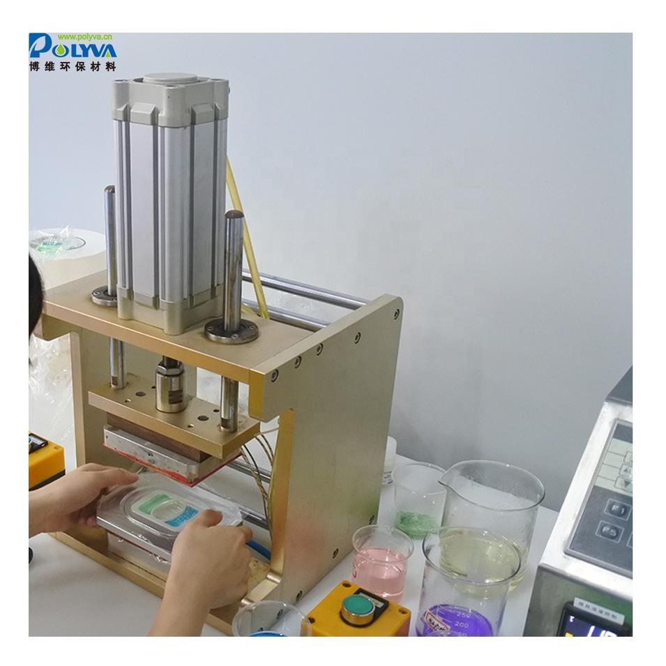 Polyva sample making for laundry pods