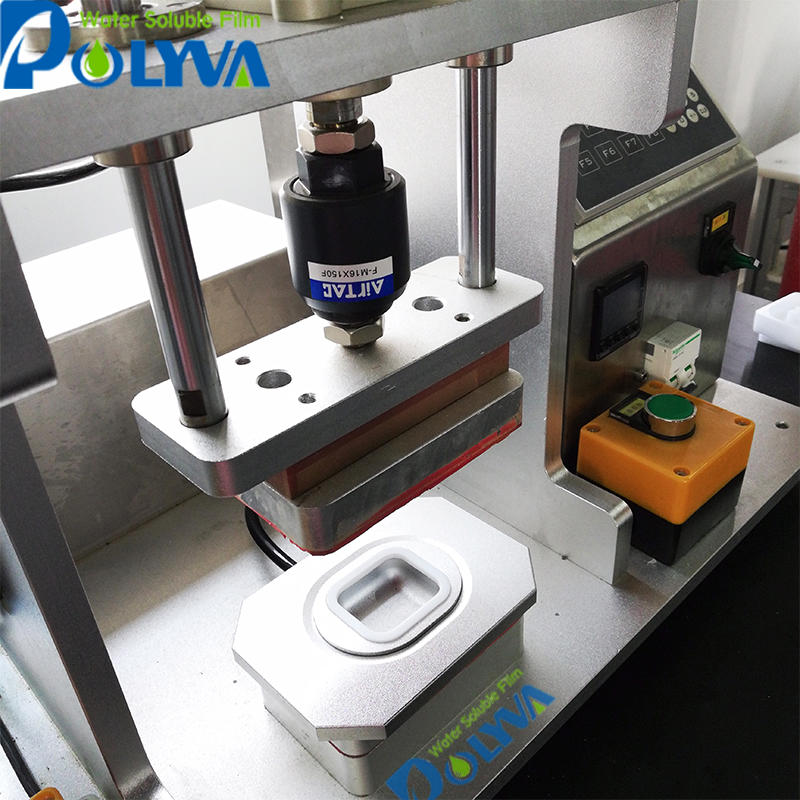Laundry liquid /powder sample packaging machine with easy change mold