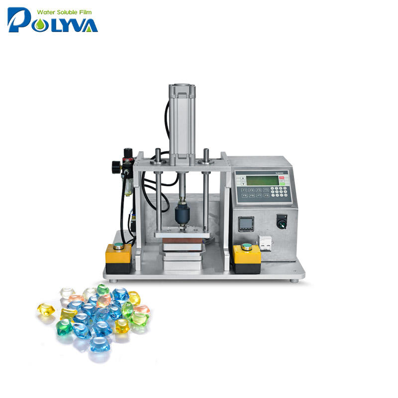 lab scale water soluble capsules laundry detergent pods sample making machine