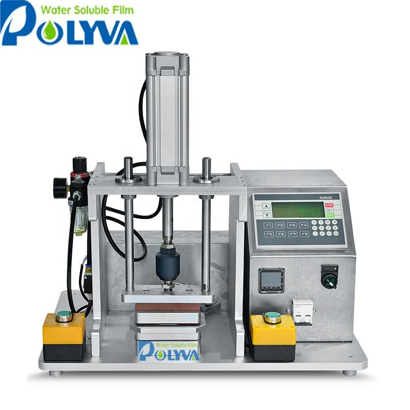 lab scale water soluble pods sample making machine