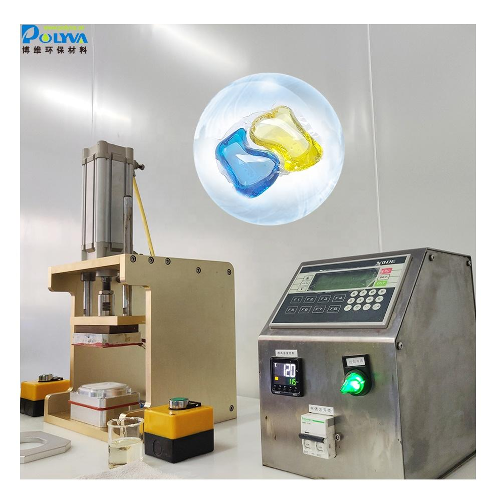 Polyva modol replaceable sample making machine for laundry pods