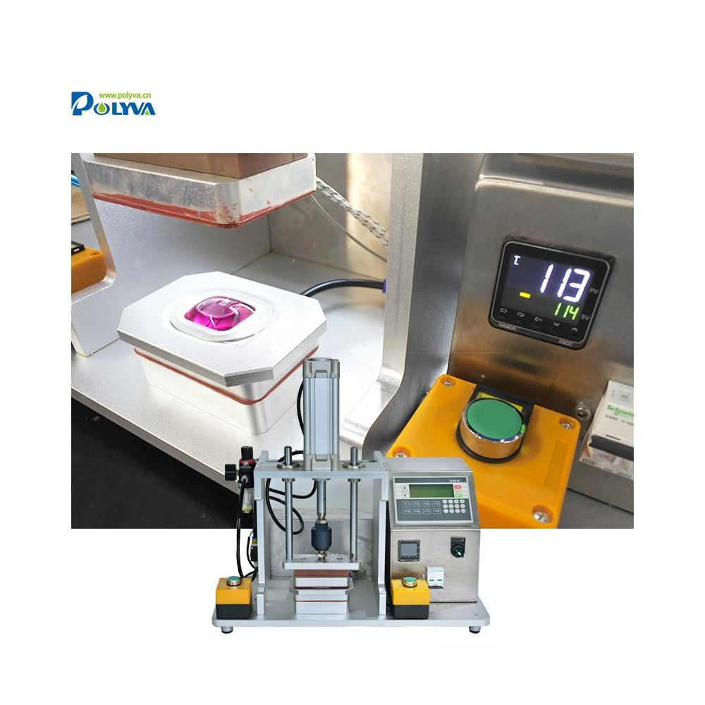 Polyva efficient modol replaceable sample making machine for laundry pods