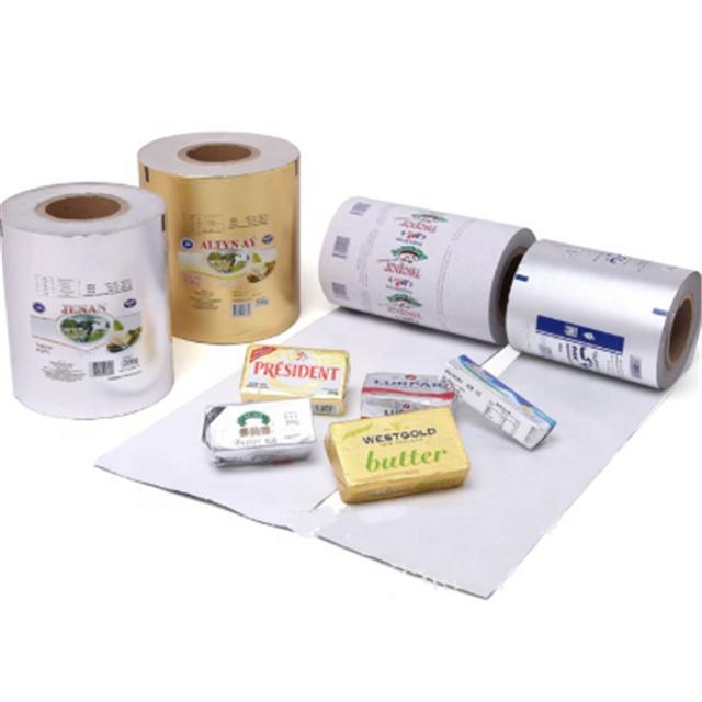 Kolysen custom printed aluminium foil paper for butter margarine packaging