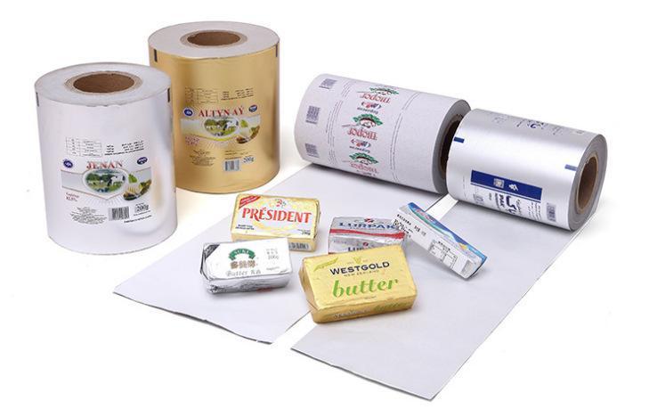 KOLYSEN Butter Emboss Packaging Custom Colored Foil Paper Aluminum Wrapping Silver Design Custom Pure