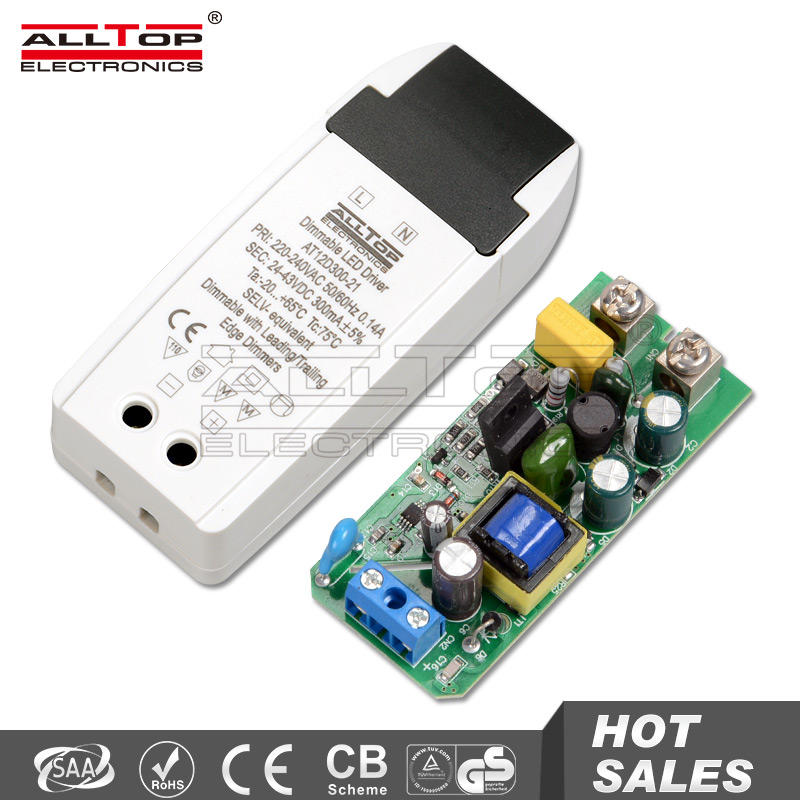 Constant current 6W 12W 300mA led driver dimmable