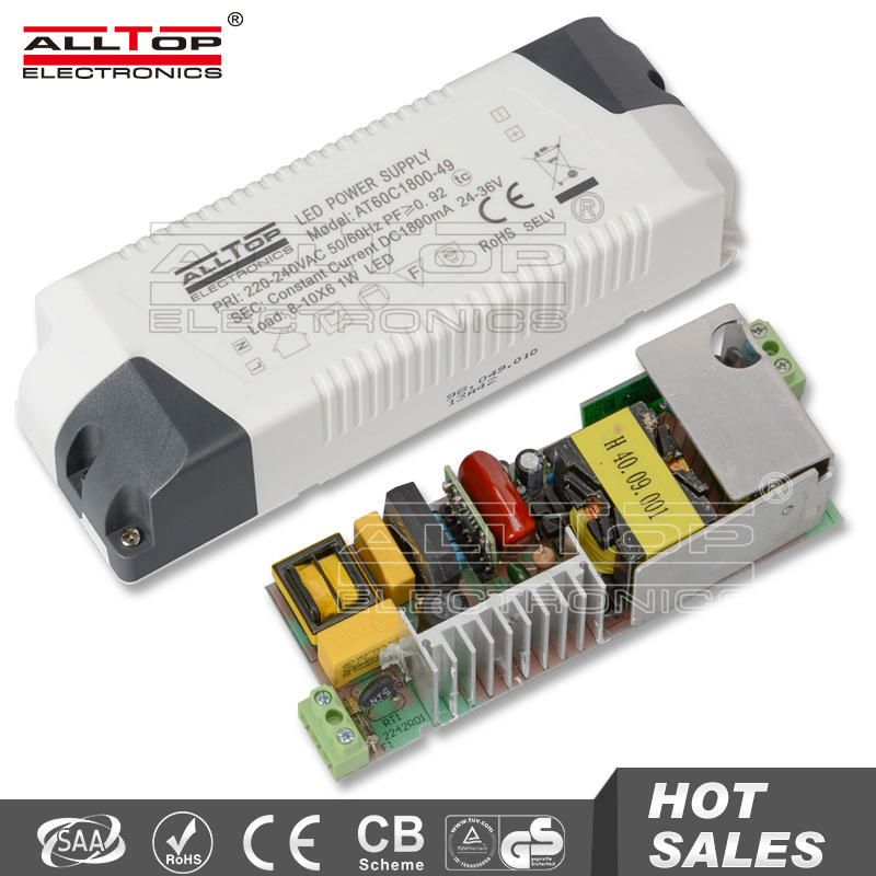 Constant voltage 60w led power supply 12 volt 5 amps