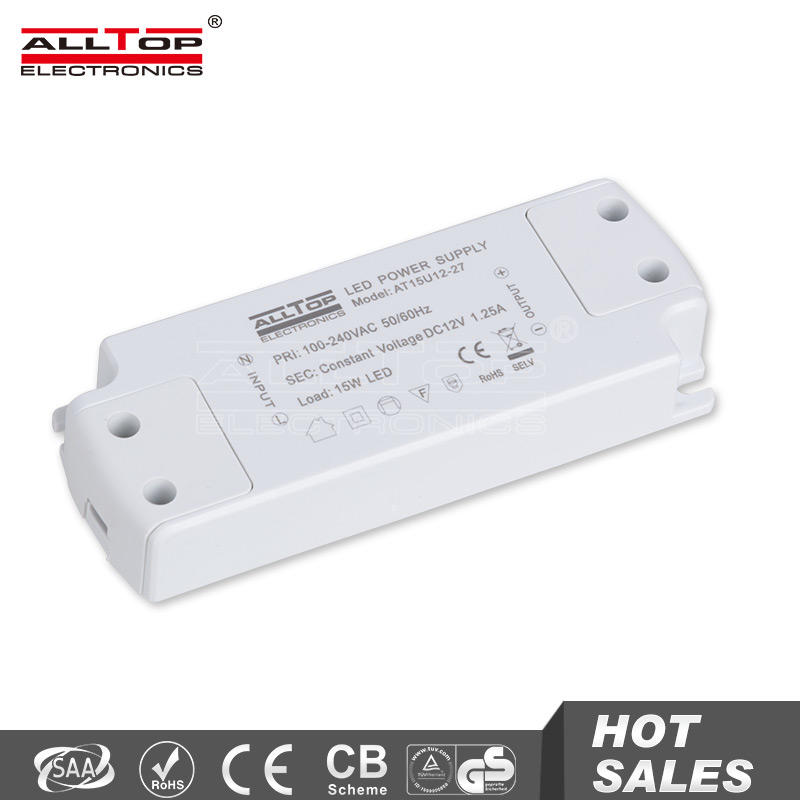 Constant voltage 1250mA 15w 12V mini led driver