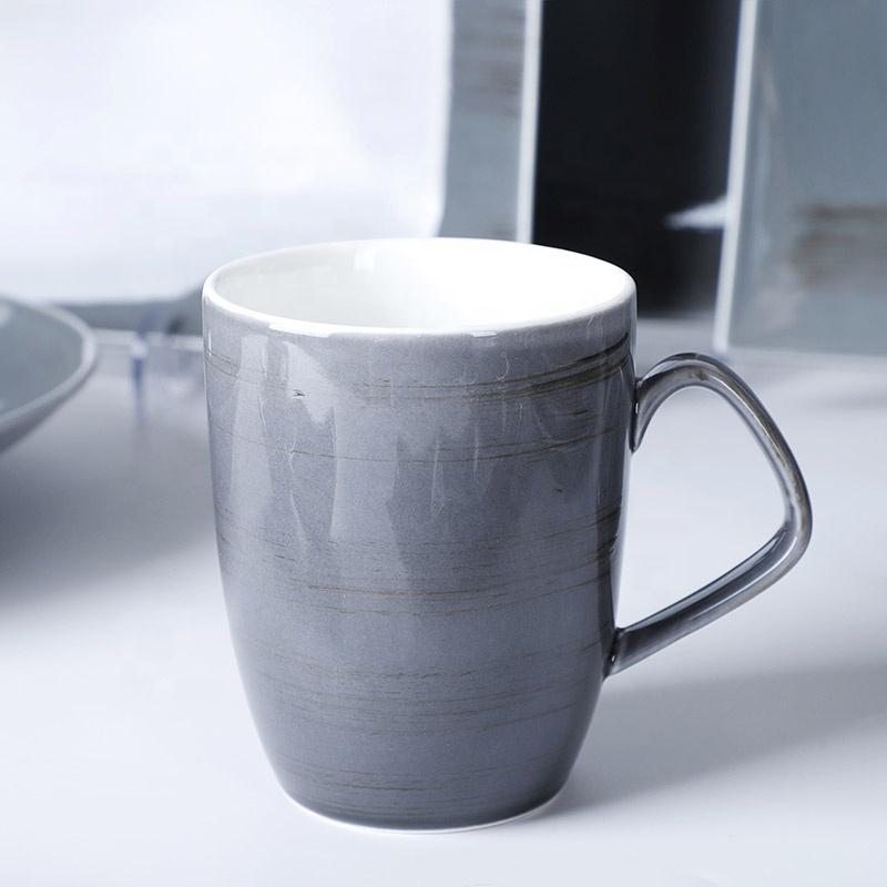 Catering Serving Dishes Set, Fine Porcelain Tableware Set, Bulk Blue Dinner Plates Set Ceramic Dishes For Restaurant*