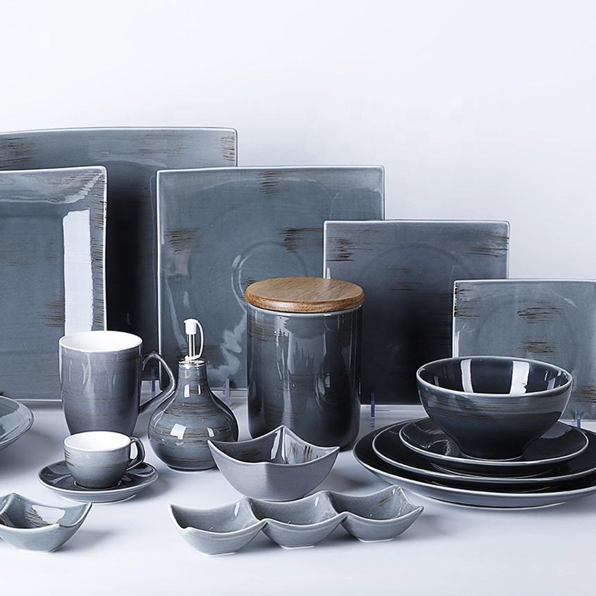 Chinaware Plate Set Porcelain Luxury Dinnerware, Assiette Porcelaine Sets, Bajillas Para Resturante