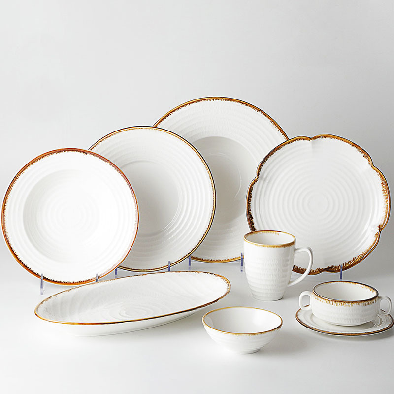 Hot Sale High Quality Restaurant Colorful Porcelain Dinnerware Sets Ceramics Dinnerware+Sets