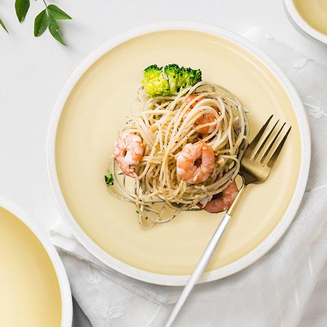 Event Catering Color Banquet Hall Plate Sets, Piatti Per Eventi Yellow Dinnerware Sets*