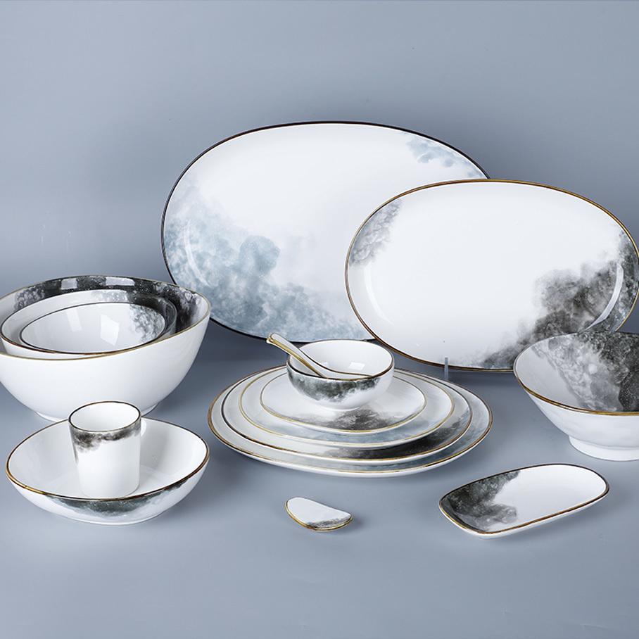 Unique Rustic Hotel Ware Dinner Set Crockery, 28ceramics Used Restaurant Rustic Dinner Set Porcelain For Belgium@