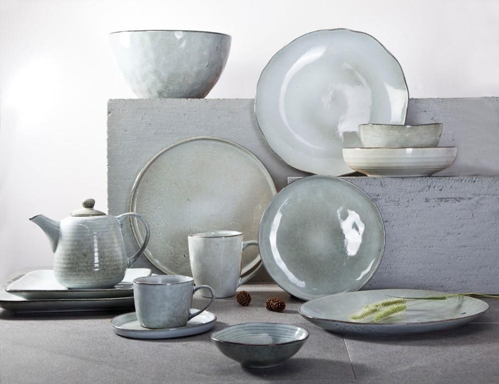 Catering Party Vaisselle Porcelaine Couleur, Event Green Porcelain Dinner Set Vajilla, Hotel Dinner Set Moq 100