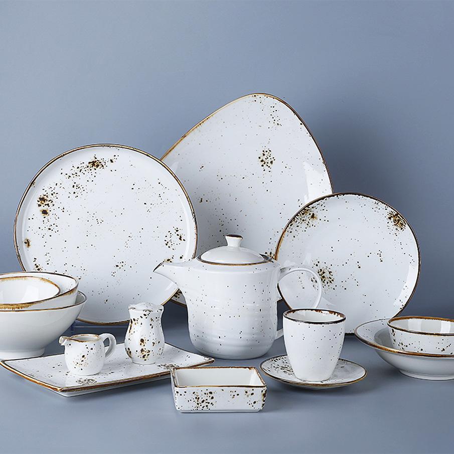 Crokery Resort Chinese Tableware, Plates Sets Dinnerware Wedding, Royal Crockery Porcelain Dinnerware Sets!