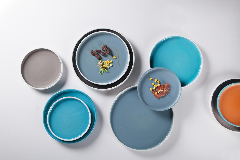 Top Seller Color Glazed Porcelain Dinner Set,Colorful Plates Ceramic Tableware, Blue Plate Sets DinnerwareFine Porcelain>