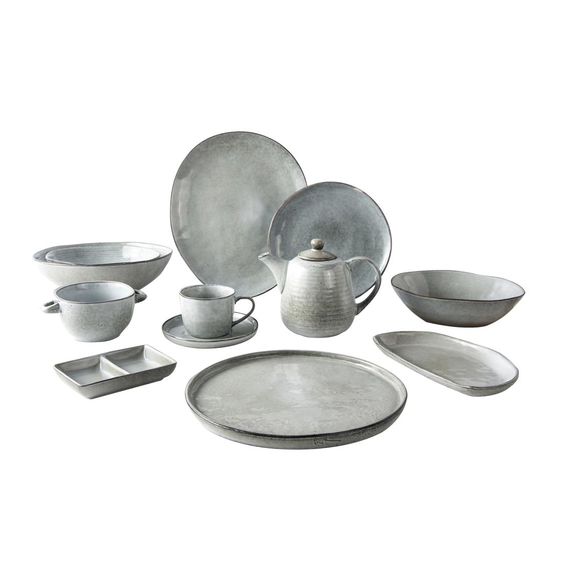 Hotel Tableware Green Indian Restaurant Tableware, Colorful Dinnerware Sets, Color European Style Porcelain Dinnerware Set