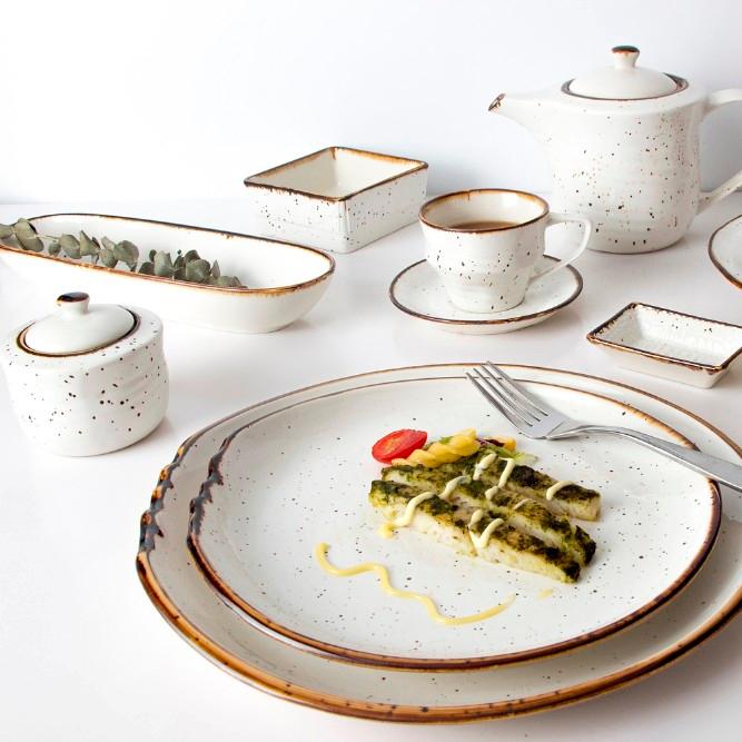 New Products In 2019 Yellow Porcelain Dinner Sets,Grey Porcelain Ceramic Dinnerware Set, Rustic Modern Dinner Set Porcelain