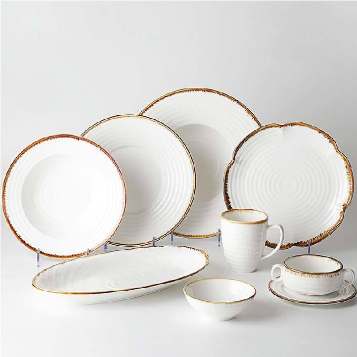 China Tableware For Restaurant, Porcelain Dinnerware Set Tableware, Factory White Dinner Set#