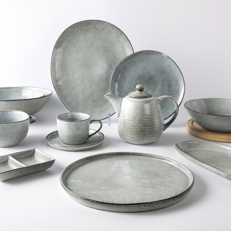 Catering Party Ceramic Tableware Set, Assiettes Restaurant, Green Hotel Ceramic Tableware %