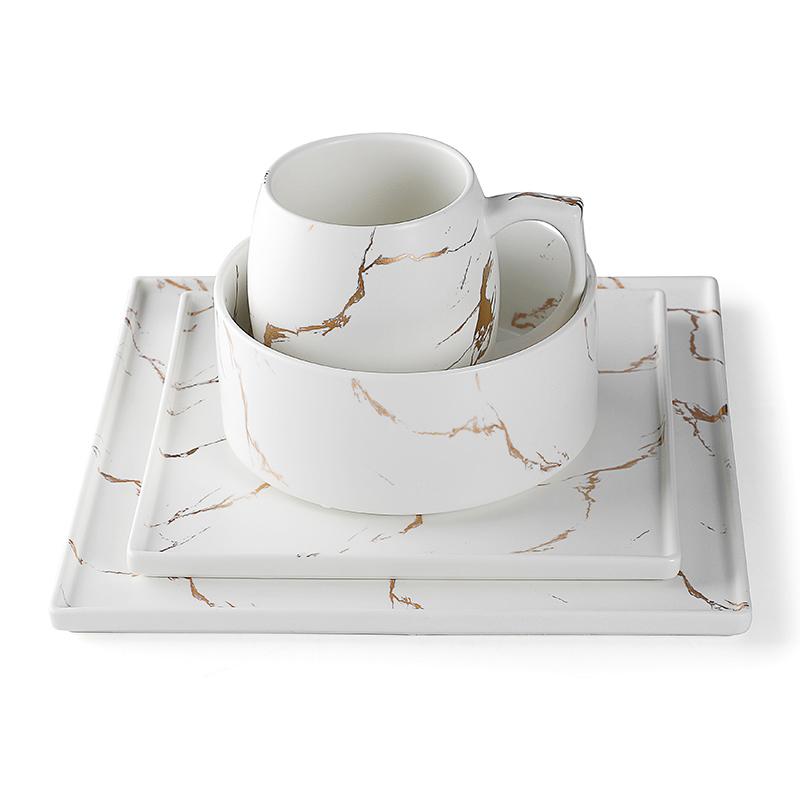 Restaurant Banquet Wedding Crockery Ceramic, Assiettes Pour Restaurant,Marble Crockery Restaurant^