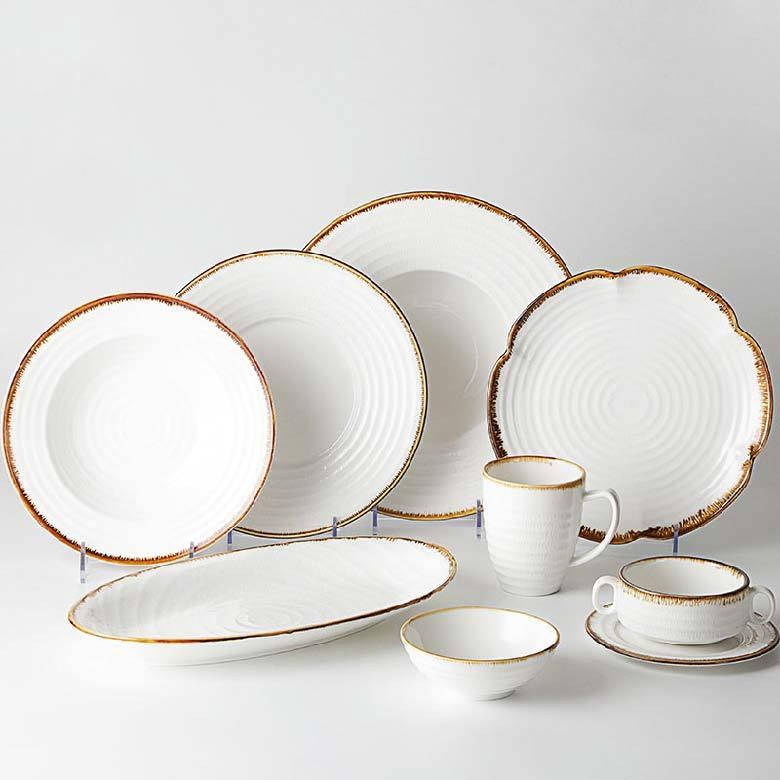 Restaurant Dinnerware Sets Luxury Porcelain, Ceramic Guangzhou Tableware For Hotel, Dinner Set Made In China^