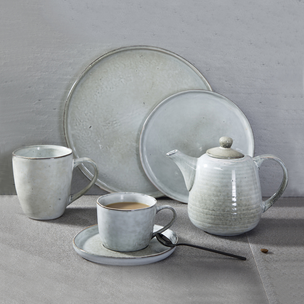 Catering Banquet Restaurant Ceramic Dinnerware, Thai Restaurant Cafe Ceramic Rustic Dinner Set