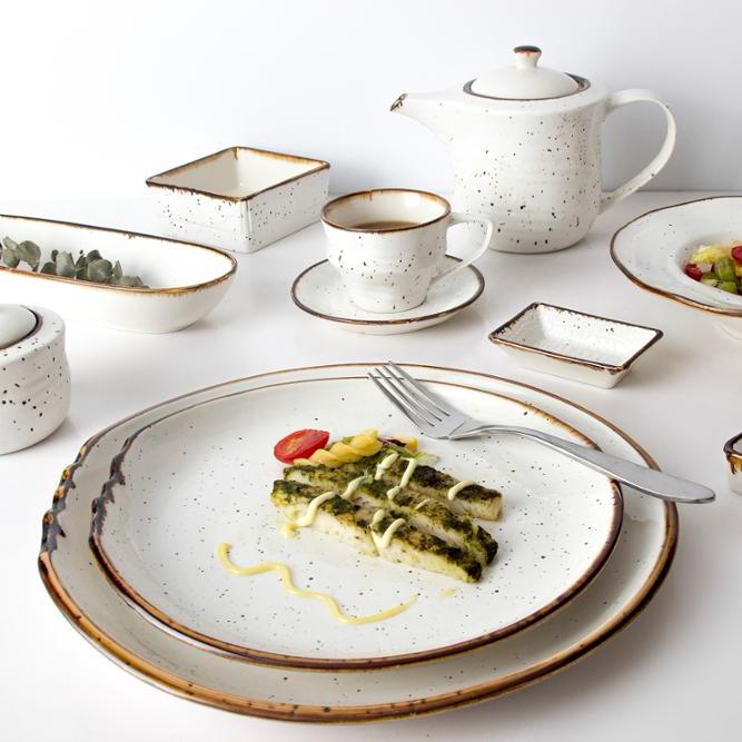 hotel crockery china color glaze set dinnerware porcelain