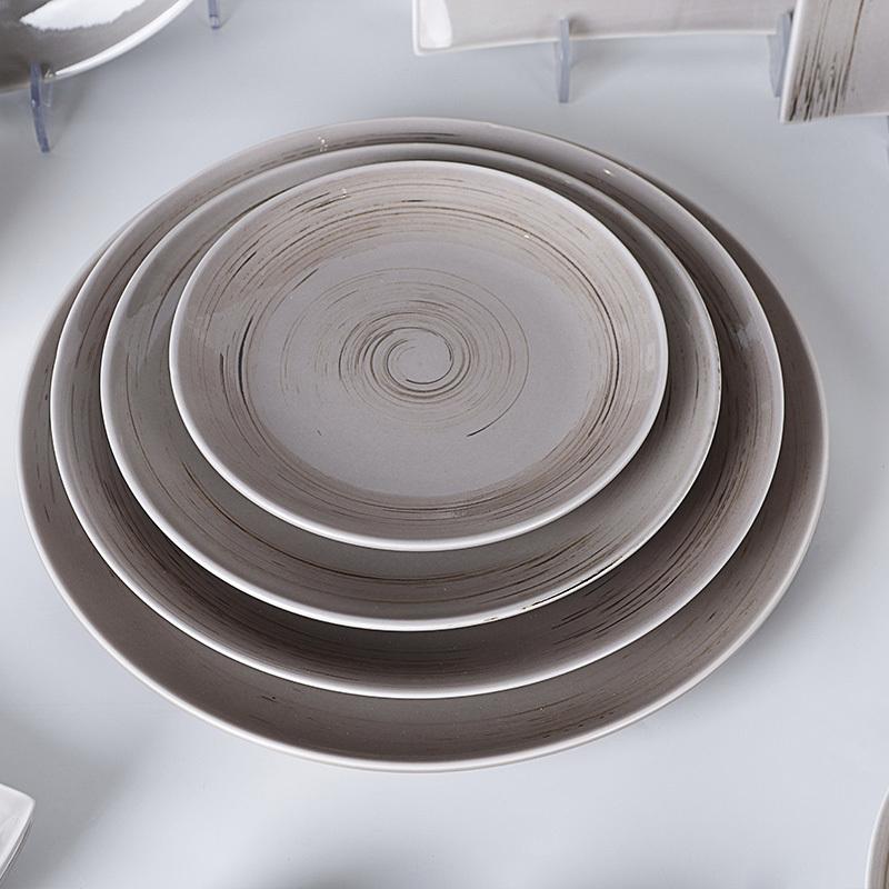 Two Eight Rustic Horeca Dinner Set Tableware, Hotel & Restaurant Rustic Grey Crockery Tableware Dinner Set Tableware Porcelain#