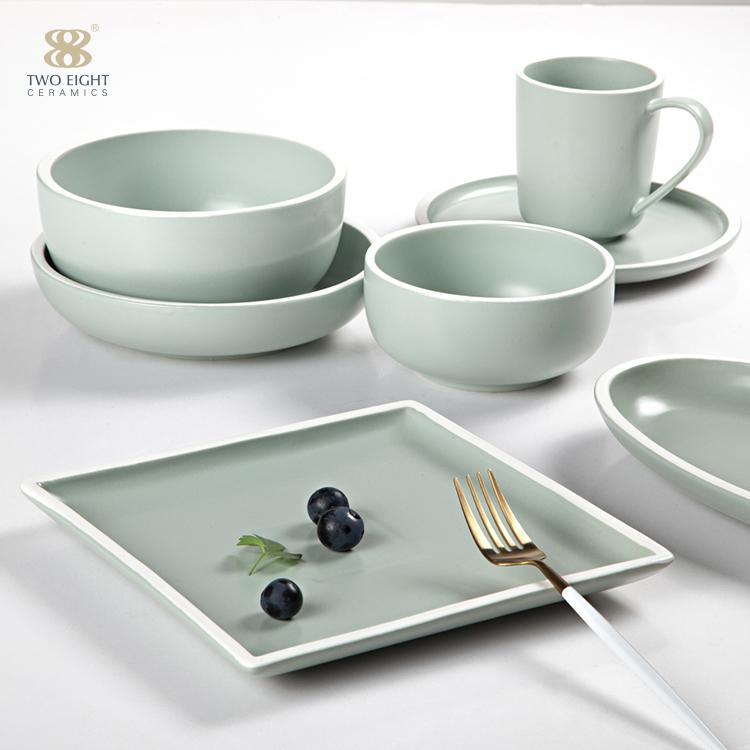 Wholesale Price 20pcs grey french modern dinnerware sets porcelain