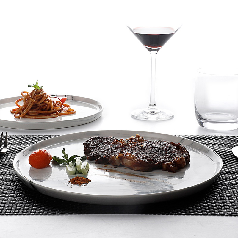 Hot Sale Restaurant Hotel Marble Tableware Dinnerware Set, Breakfast Set Seramik, Marble Dinnerware