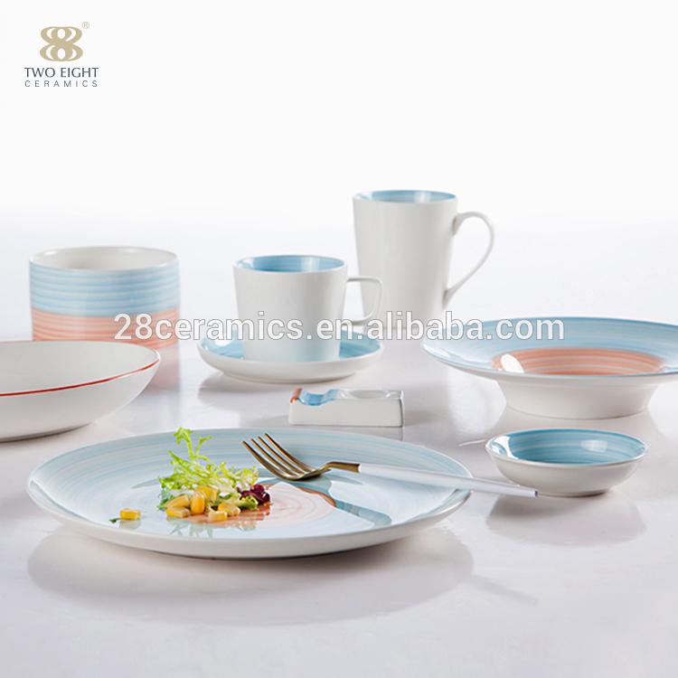 colored porcelain dinnerware set