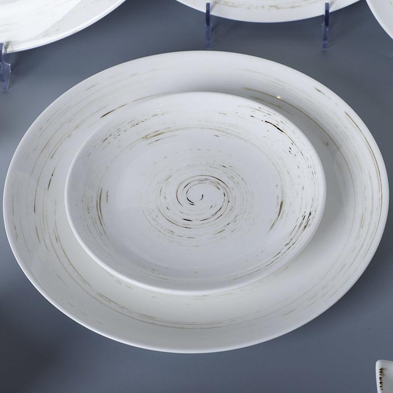 Brilliant European Style Rustic Plates Colored Dinnerware, Porcelain Dinner Set, Stoneware Colorful Dinnerware Sets^