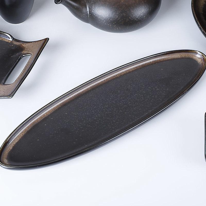 Ceramic Tableware Set, Special Porcelain Dinner Sets Black, Plates Sets Dinnerware Restaurant/