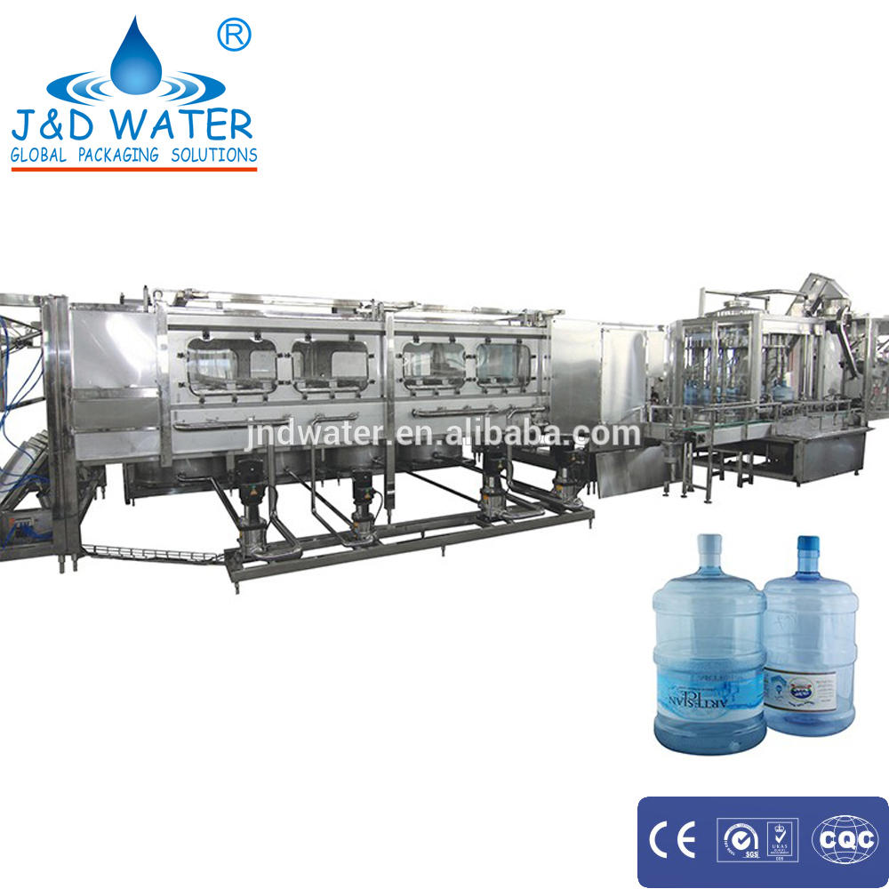Cheap reliable price1x1 Capping heads plastic 5 gallon bottle filling machine