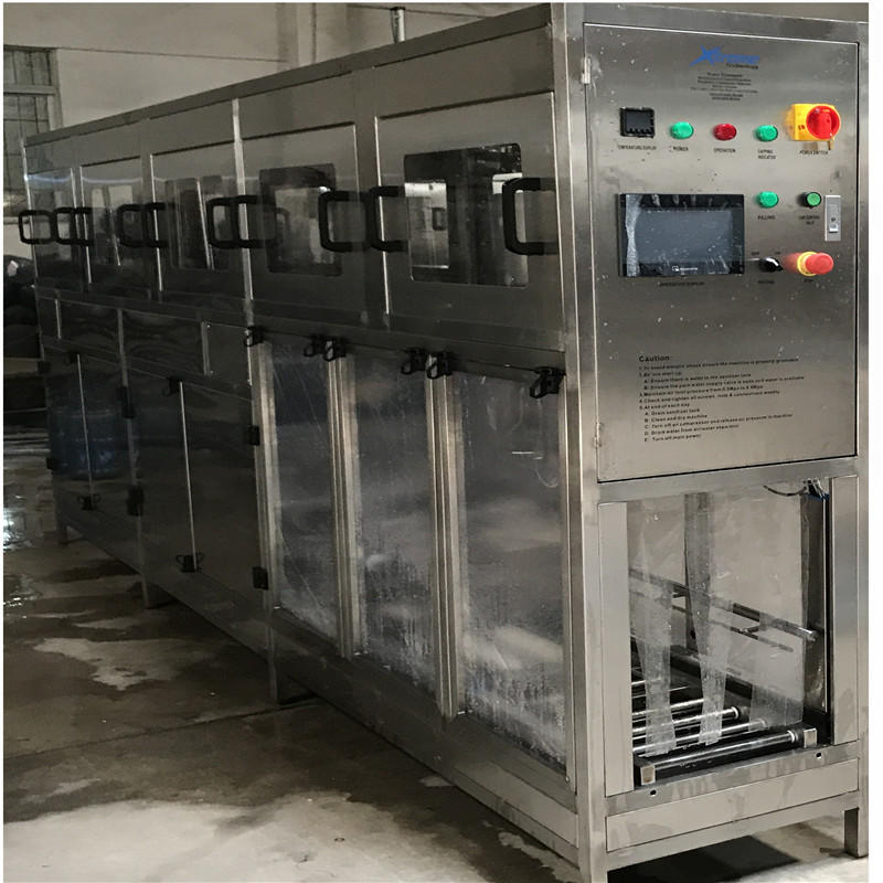 Automatic 19 liter water bottle filling machine with washing filling capping function