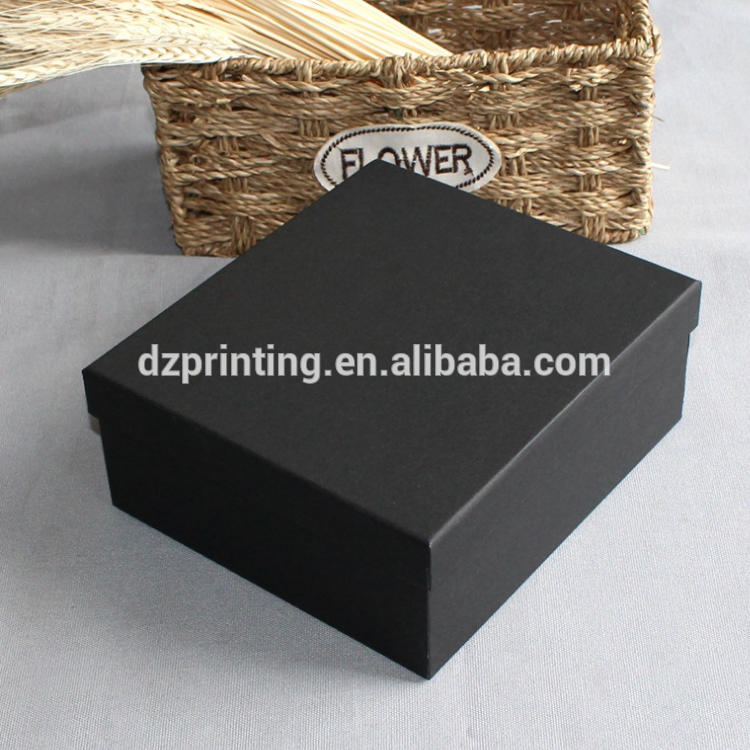 Different Size In Stock Kraft Paper Black Card Paper Gift Box With A Lid