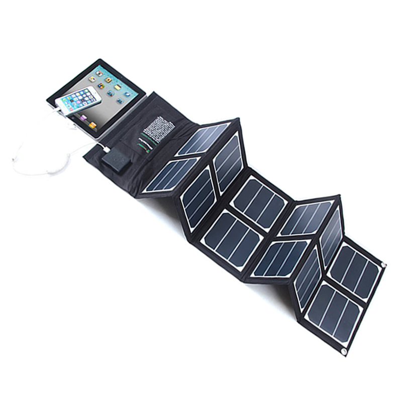 Charger 65w Custom Logo Cells 60w Module 50wp Bendable Monocrystal 50mm Foldable Solar Panel 45w