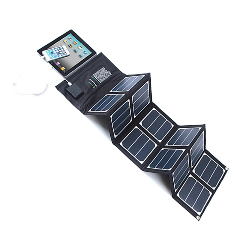 Outdoor Camping Brown Bendable Monocrystal Pv Combin Box Charger Battery And Flexible 18v 100w Mono Fiber Optic Solar Panel