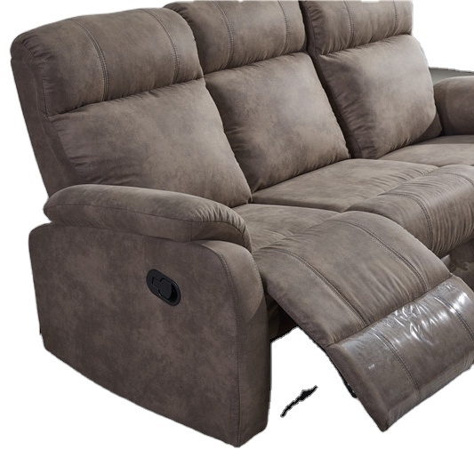 2021 Living room newest elegant recliner SOFA with brown fabric Cheap price