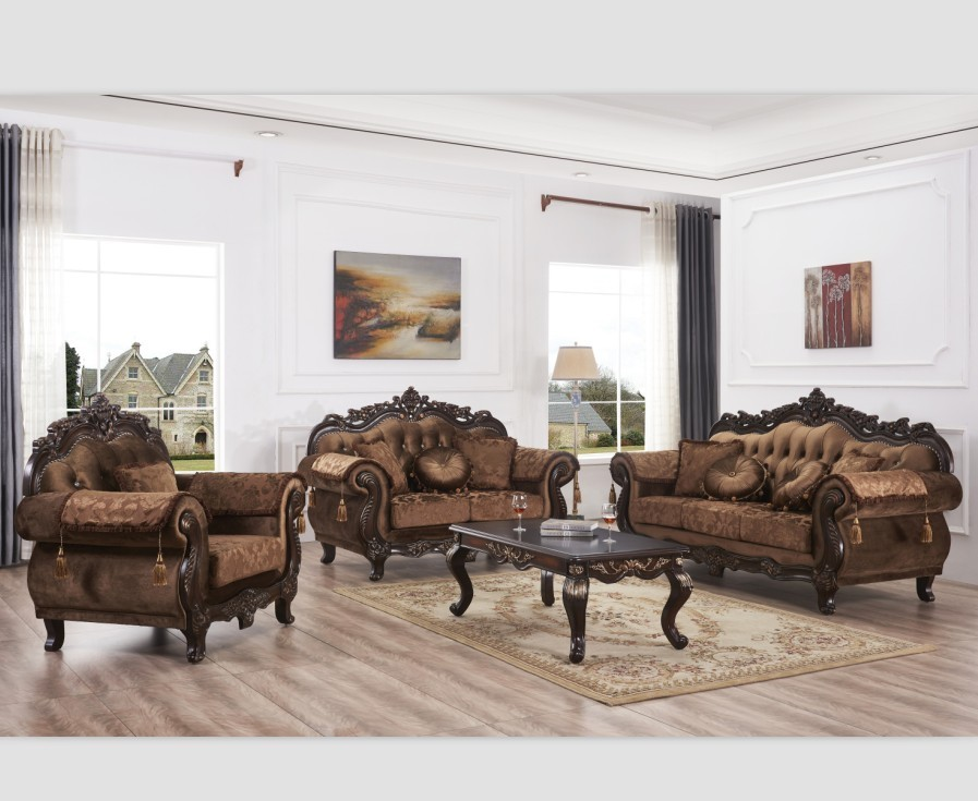 Furniture Factory Provided Living Room Sofas Fabric SofaRoyal Sofa Set Living Room Cover Antique Wood Style Packing Modern