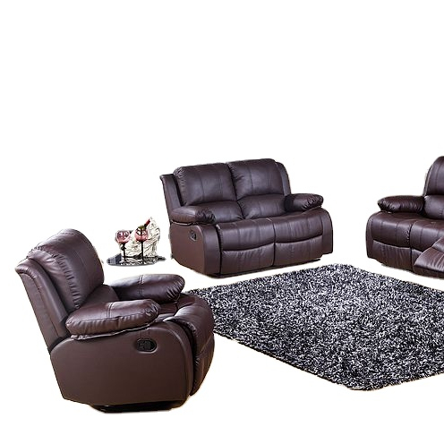 2021 Living room sofasmanualrecliner sofa 3 piece suite in couch buffalo leather sofa