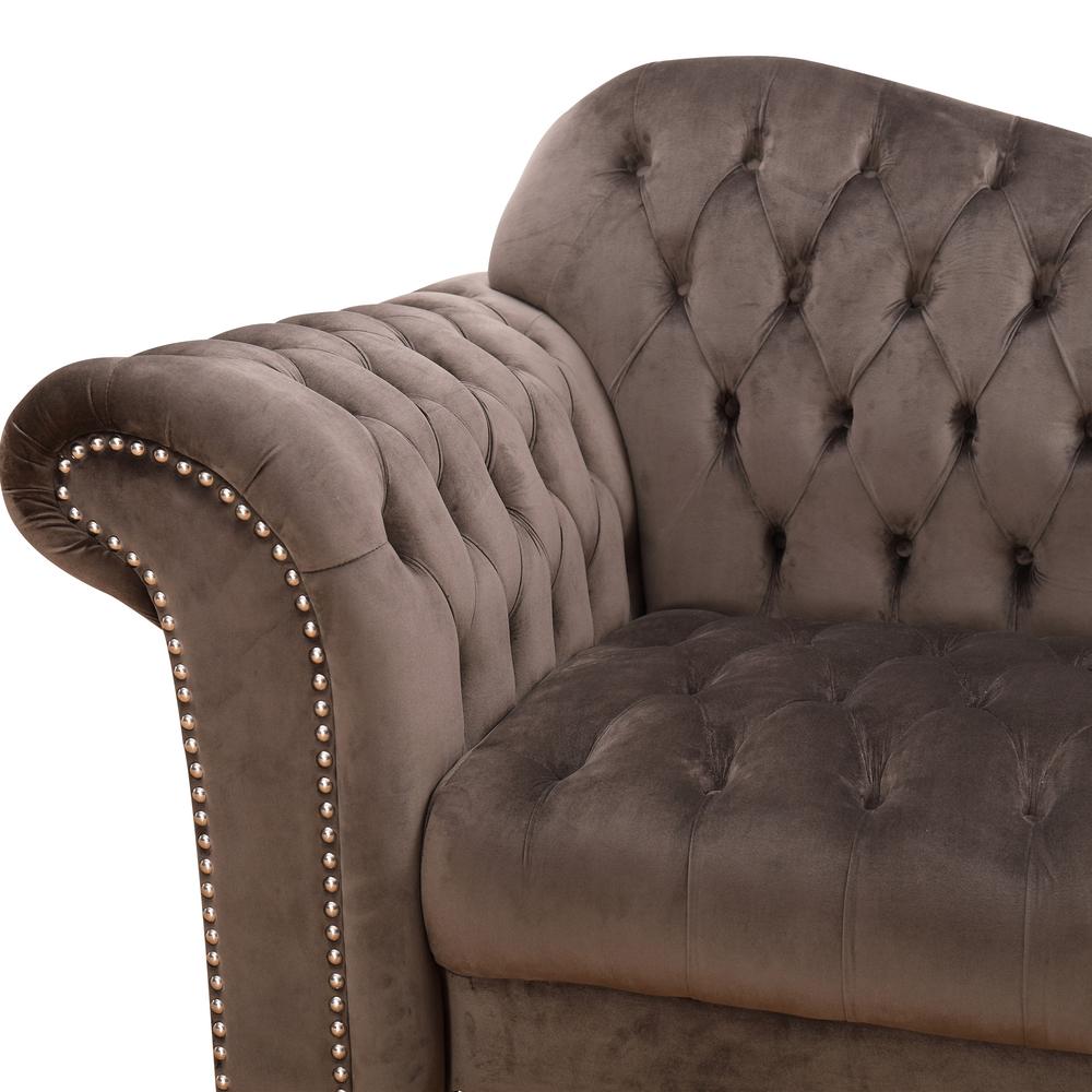 luxury chesterfield couch living room furniture dark greyVelvet