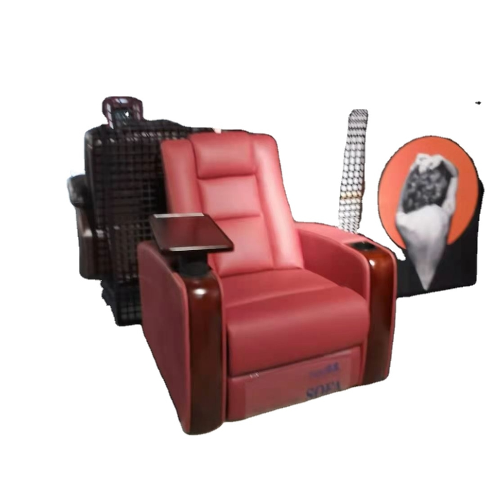 2021 Luxury home theater chair VIP cinema manual recliner chair for sale