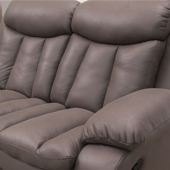 Living room sofasfurniture newestmanual function recliner leather gel 2seater