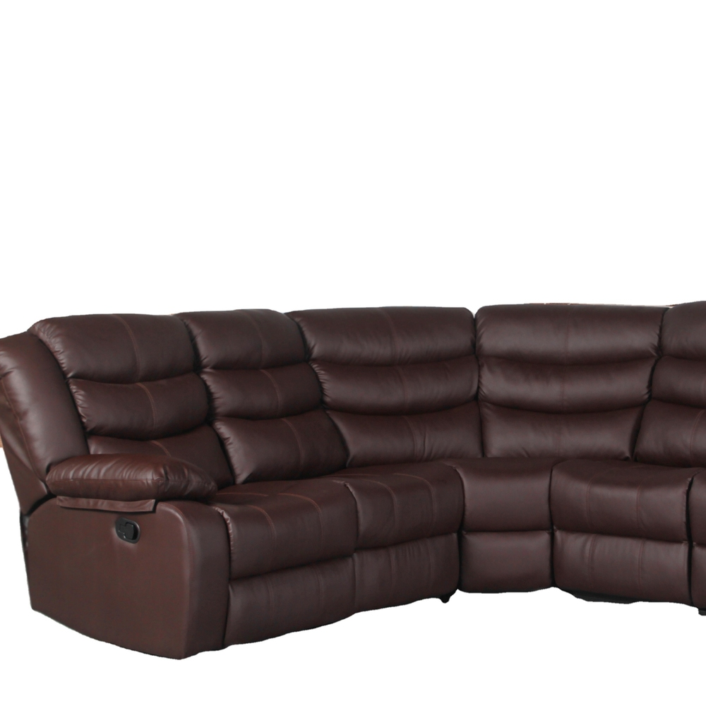 Home furniture sectional sofa reclines brown genuine leather sectional sofa for living room