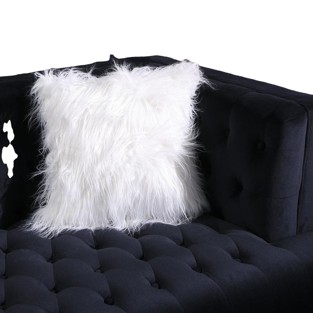 2021 Newest black velvet fabric classic chesterfield sofas