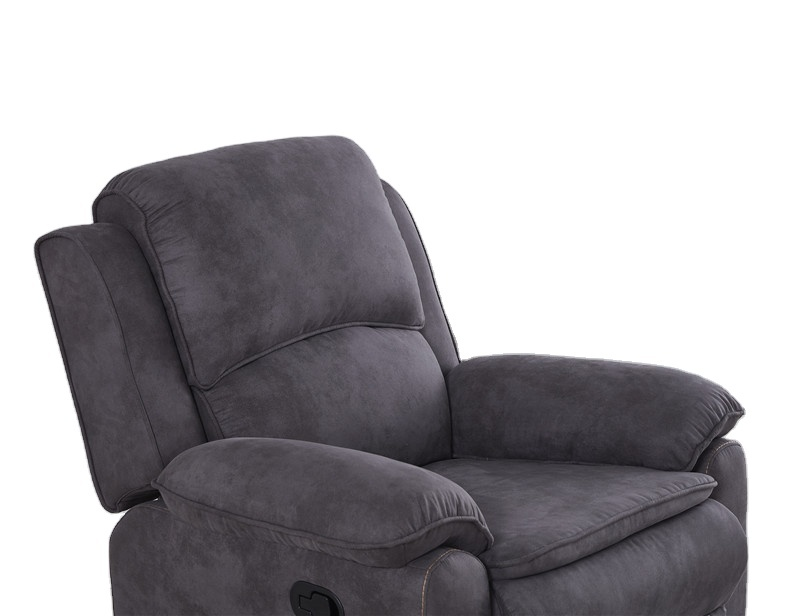 Living room chairsmanualrocker recliner chair grey fabric