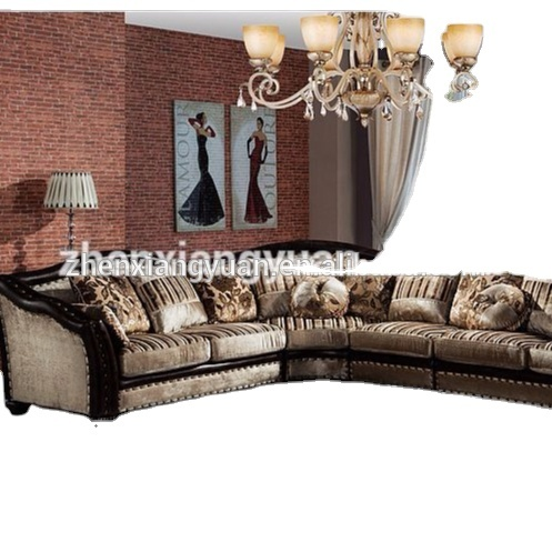 Living room sofas Classic Velvet fabric corner sofas
