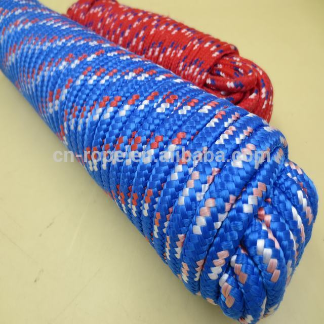 New packing 8mm polyester braided Reflective tent rope