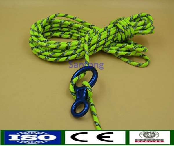 48 Strand Braided Climbing Rope with Figure 8 Ring